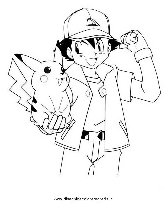 Disegno Pikachu Sasha Fortpokemon Personaggio Cartone Animato Da