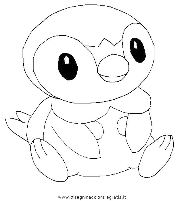 piplup cute coloring pages | Disegno piplup_pokemon_0: personaggio cartone animato da ...