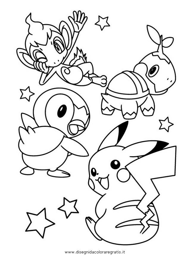 piplup cute coloring pages | Pokemon Kleurplaat Chimchar Pokemon Kleurplaat ...
