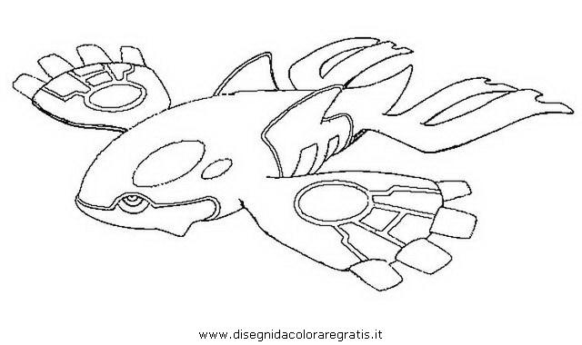 Disegno pokemon kyogre personaggio cartone animato da