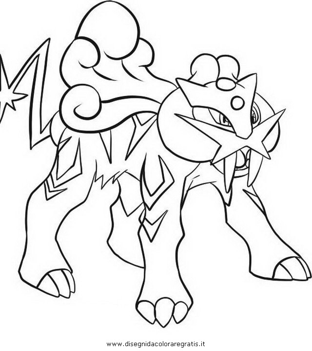 raikou coloring pages - photo#4