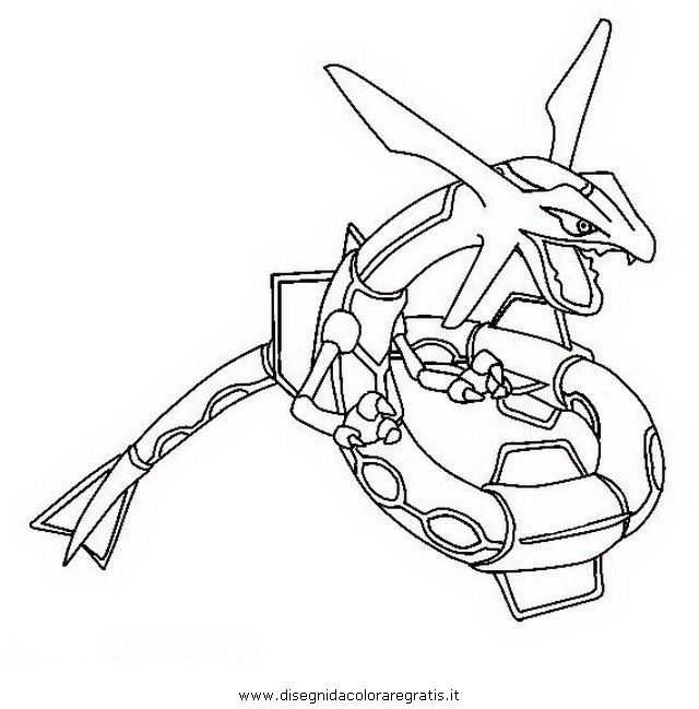 free coloring pages of mega rayquaza