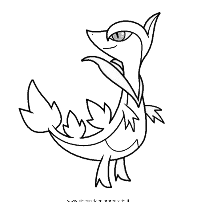 pokemon coloring pages servine pictures - photo#3
