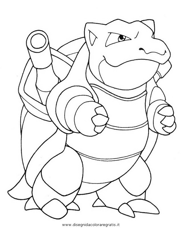 pokemon coloring pages of blastoise - photo#15