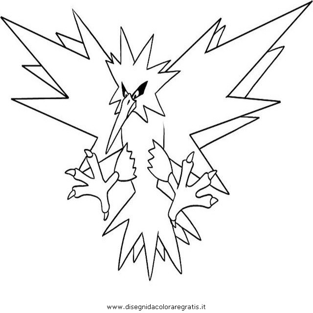 zapdos coloring pages - photo #1