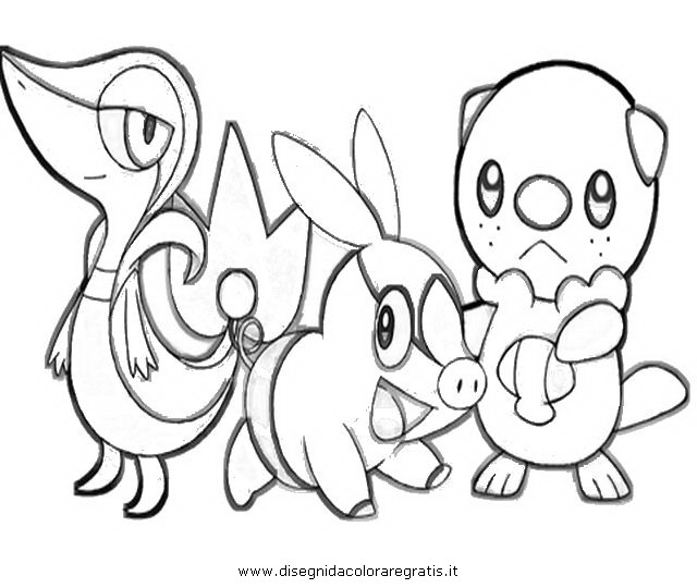Anime snivy colouring pages for Snivy coloring pages