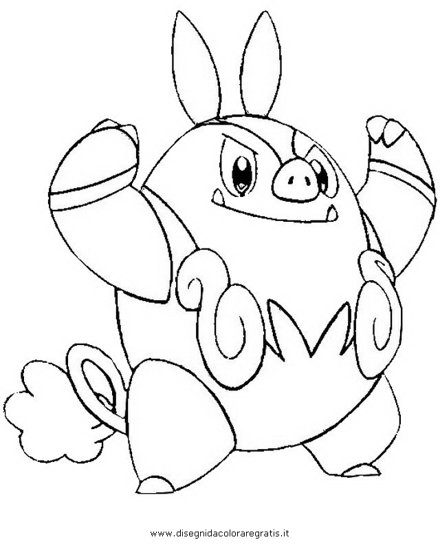 Tepig or pignite colouring pages for Snivy coloring pages