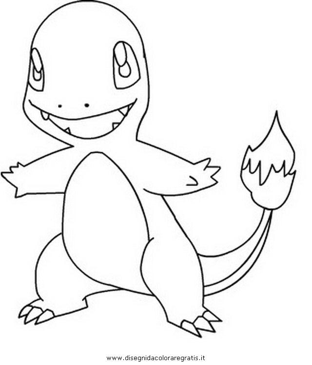 Disegno Pokemon Charmender Personaggio Cartone Animato Da Colorare