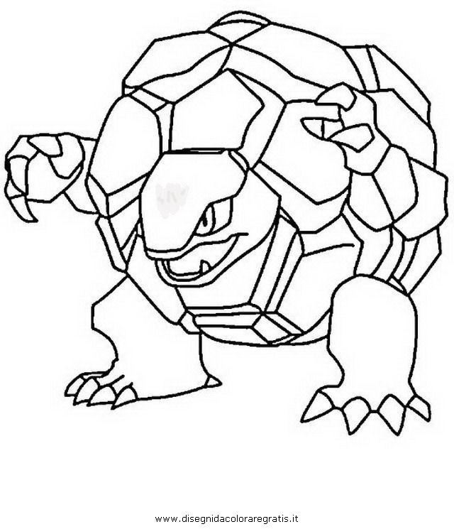 Disegno Pokemon Golem Personaggio Cartone Animato Da Colorare