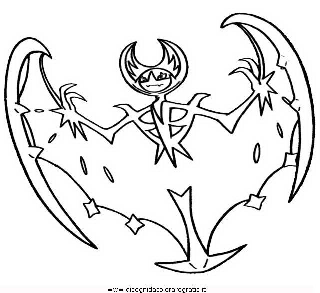 Disegno Pokemon-lunala: Personaggio Cartone Animato Da