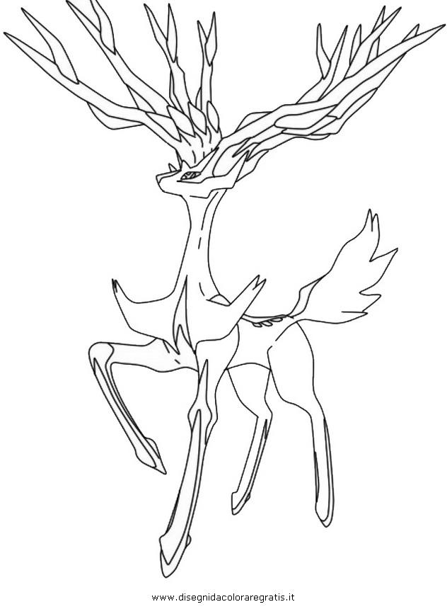 disegno xerneas 3 personaggio cartone animato da
