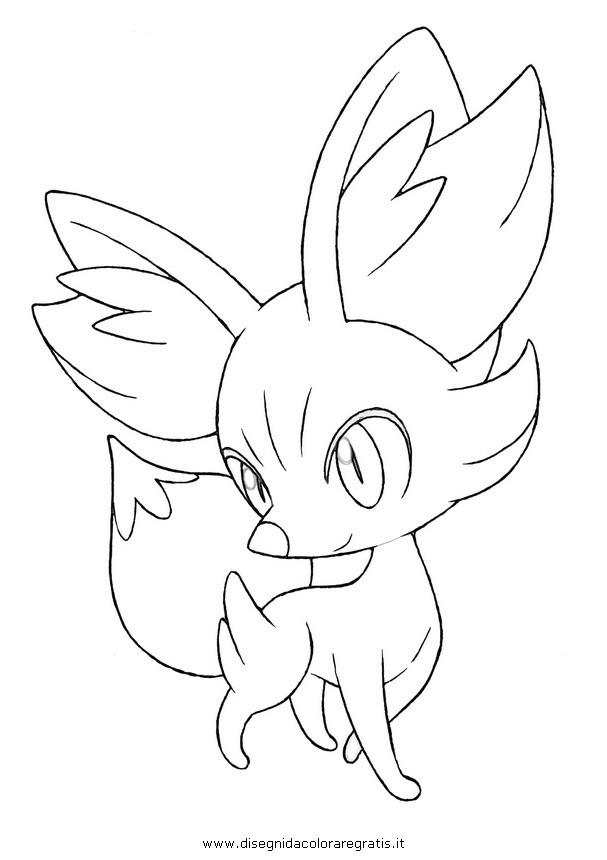 Pokemon fennekin coloring pages ~ Pokemon Fennekin Coloring Pages Sketch Coloring Page