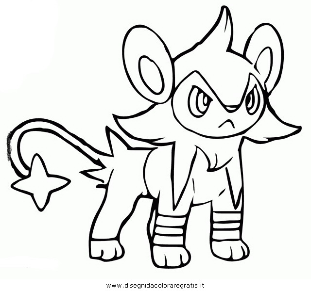pokemon coloring pages shinx moveset - photo#2