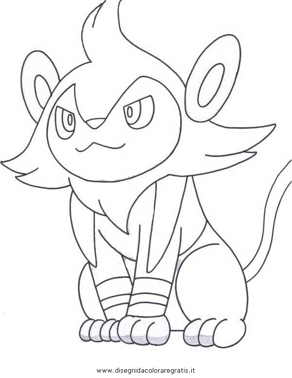 pokemon luxio coloring pages - photo#7