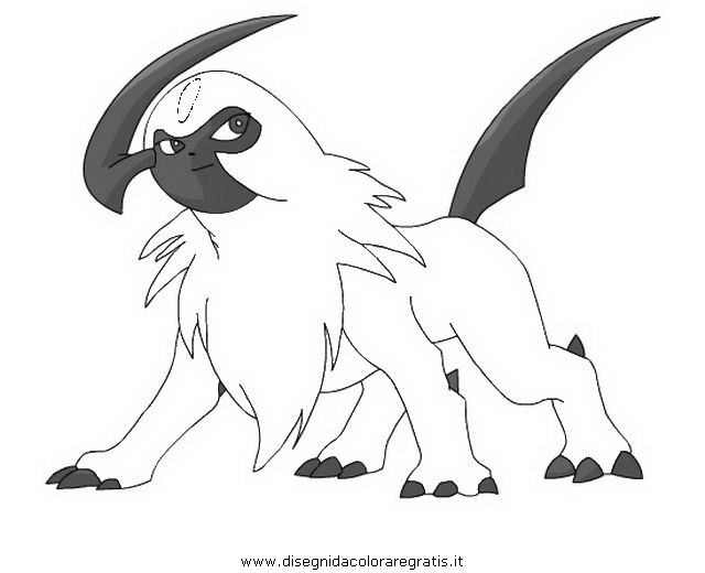coloring pages absol - photo#31