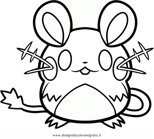Dedenne Pokemon Coloring Pages