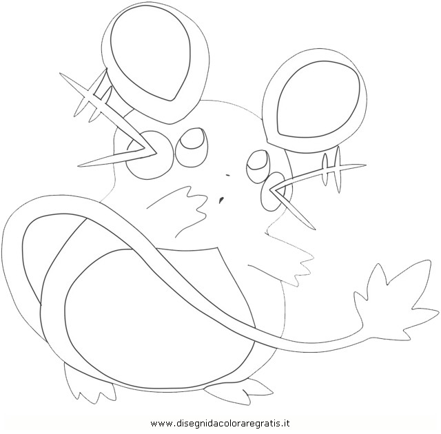 dedenne pokemon coloring pages photo9