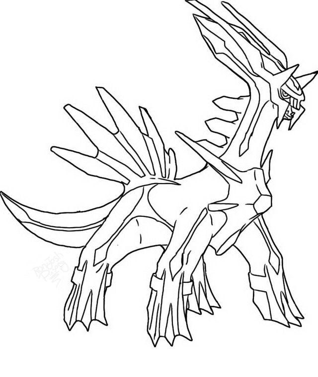 Disegno pokemon dialga 2 personaggio cartone animato da colorare - Coloriage pokemon palkia ...