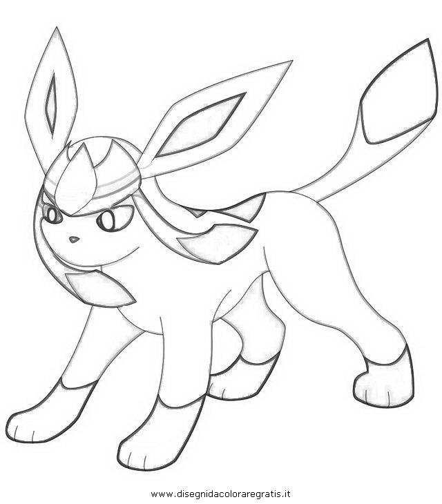 Disegno pokemon glaceon personaggio