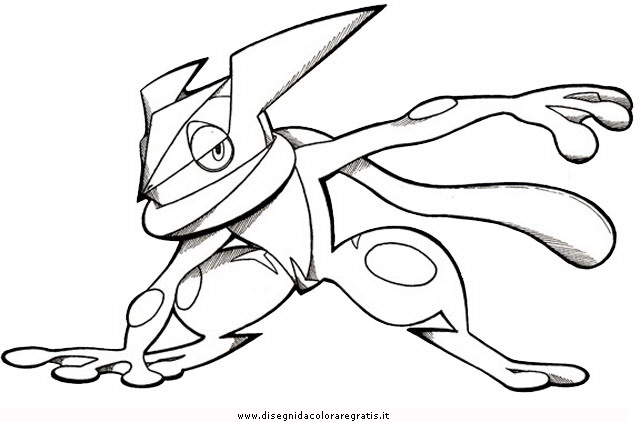 Greninja Pokemon Coloring Coloring Pages