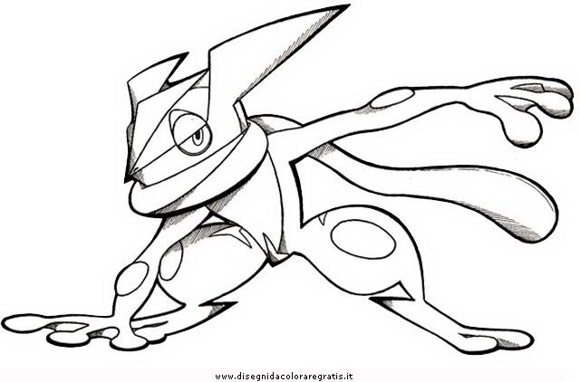 pokemon greninja coloring pages - photo#5