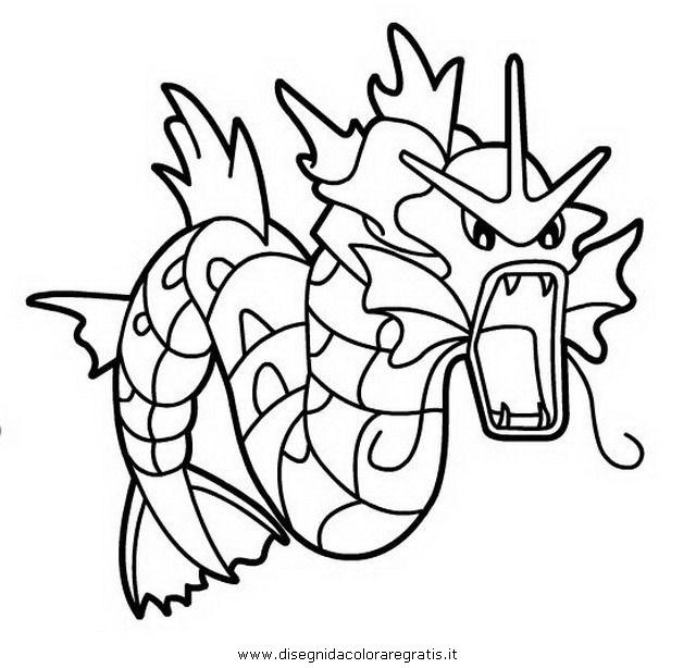 disegno pokemon gyarados personaggio cartone animato da