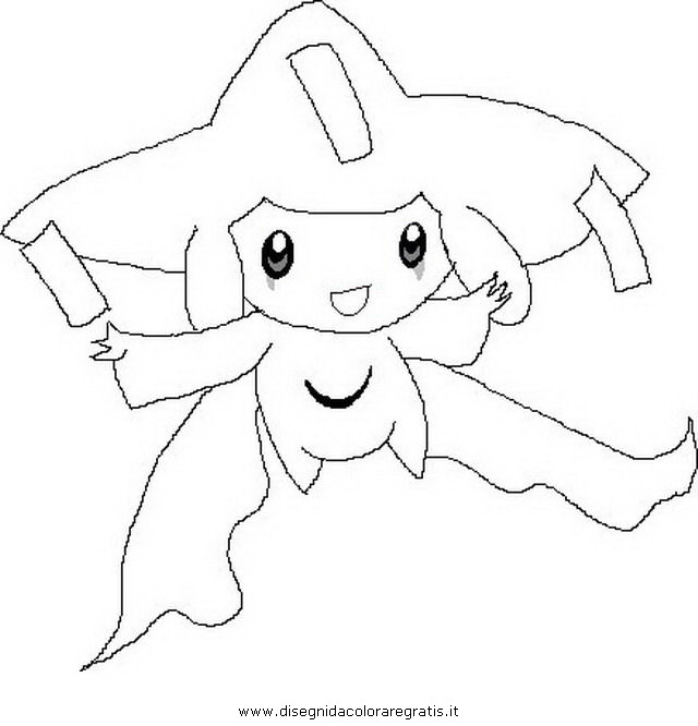 Jirachi Coloring Pages Coloring
