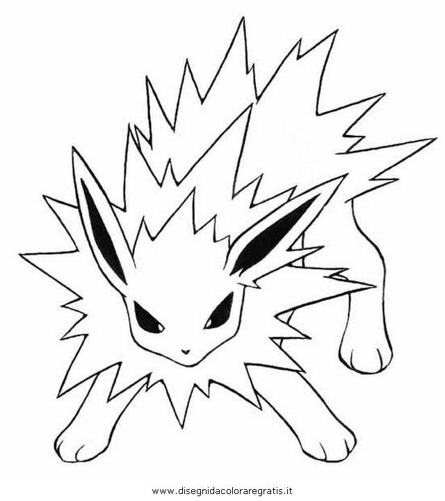 pokemon mega jolteon ex. printable pictures jolteon coloring pages ...