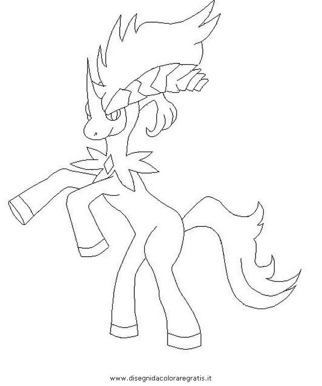 Disegno pokemon keldeo personaggio