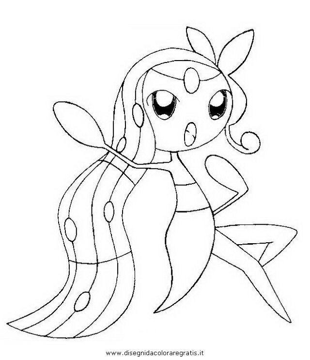 Disegno pokemon meloetta personaggio