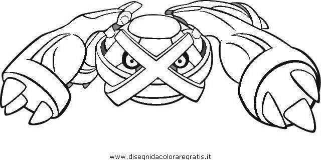 Pokemon Kleurplaten Volcanion Disegno Pokemon Metagross 2 Personaggio Cartone Animato