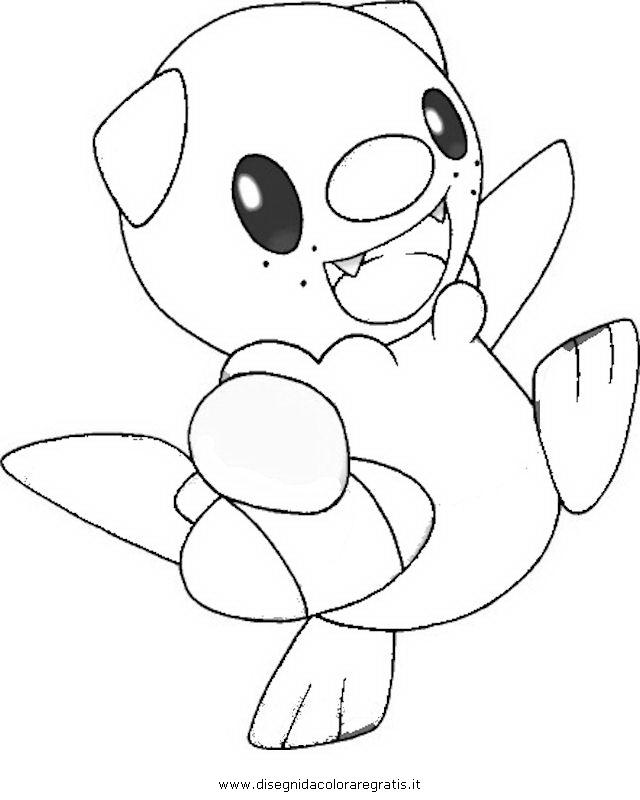 Pokemon Oshawott Coloring Pages : Disegno pokemon_oshawott_2: personaggio cartone animato da colorare