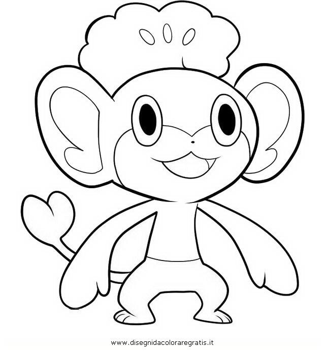 Disegno pokemon pansage personaggio cartone animato da