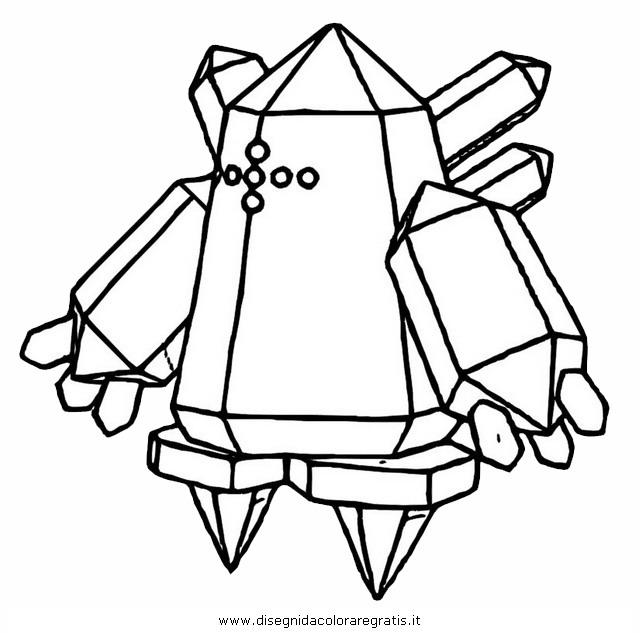 Disegno pokemon regice personaggio