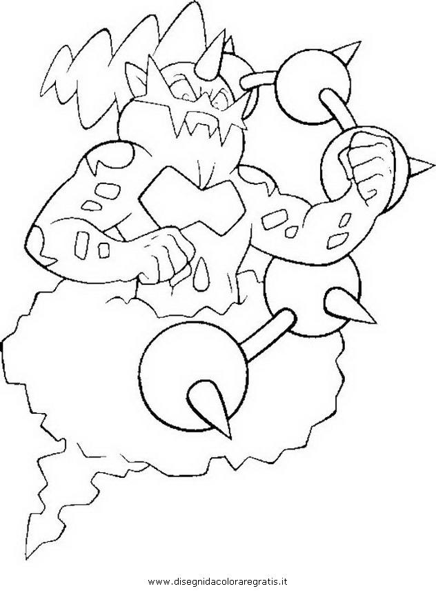Thundurus da colorare culo for Pokemon da colorare e stampare
