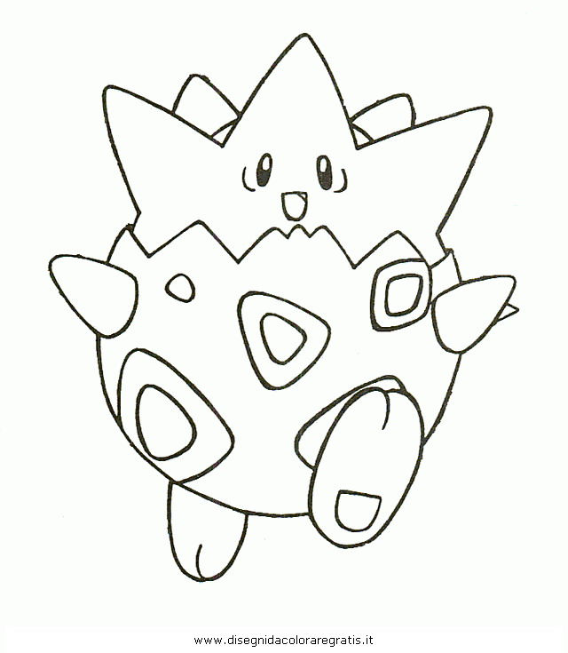 Free Coloring Pages Of Pokemon Togepi Togepi Coloring Pages