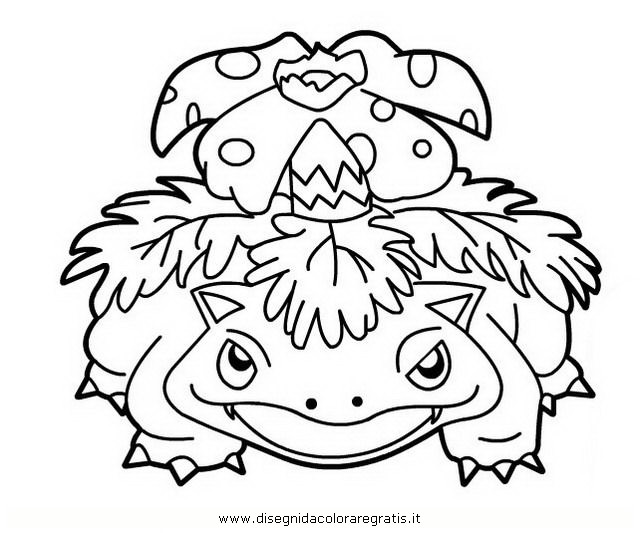 Disegno pokemon venusaur personaggio cartone animato da