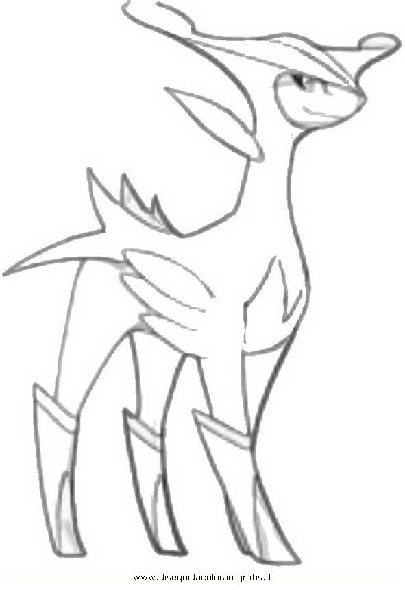 Disegno Pokemonvirizion Personaggio Cartone Animato Da Colorare