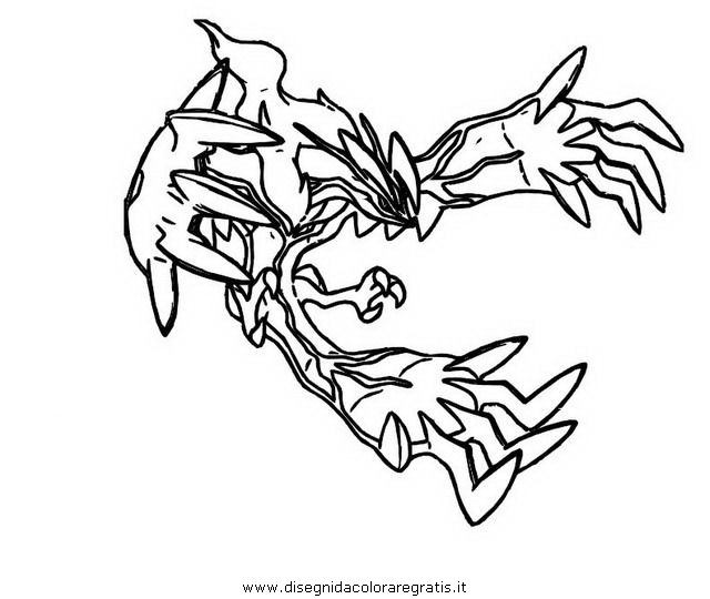 Pokemon Coloring Pages Xerneas : Free coloring pages of pokemon yveltal