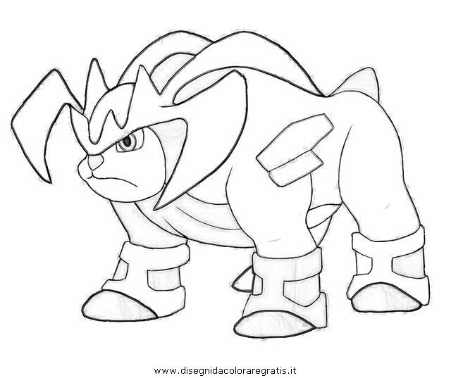 Xerneas Kleurplaat Disegno Terakion Terrakion 4 Personaggio Cartone Animato