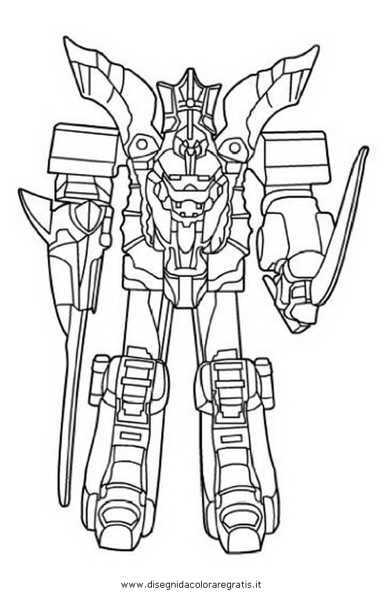 Disegno power rangers megazord 4 personaggio cartone for Power rangers samurai megazord coloring pages