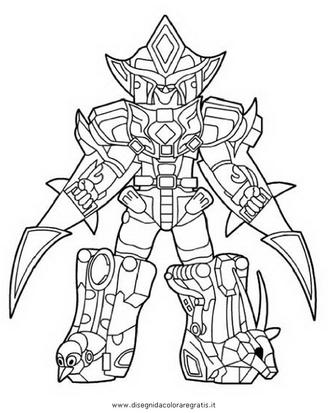Disegno power rangers megazord 5 personaggio cartone for Power rangers samurai megazord coloring pages