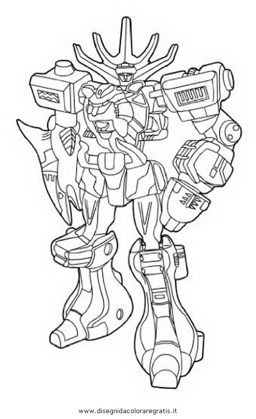 Disegno power rangers megazord 6 personaggio cartone for Power rangers samurai megazord coloring pages