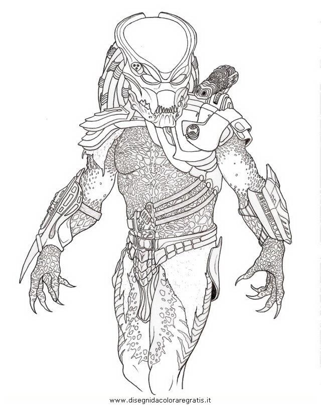 Disegno predators personaggio cartone animato da colorare