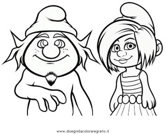 Disegni Da Colorare Di Cartoni Animati: Disegno Puffi2_27: Personaggio Cartone Animato Da Colorare