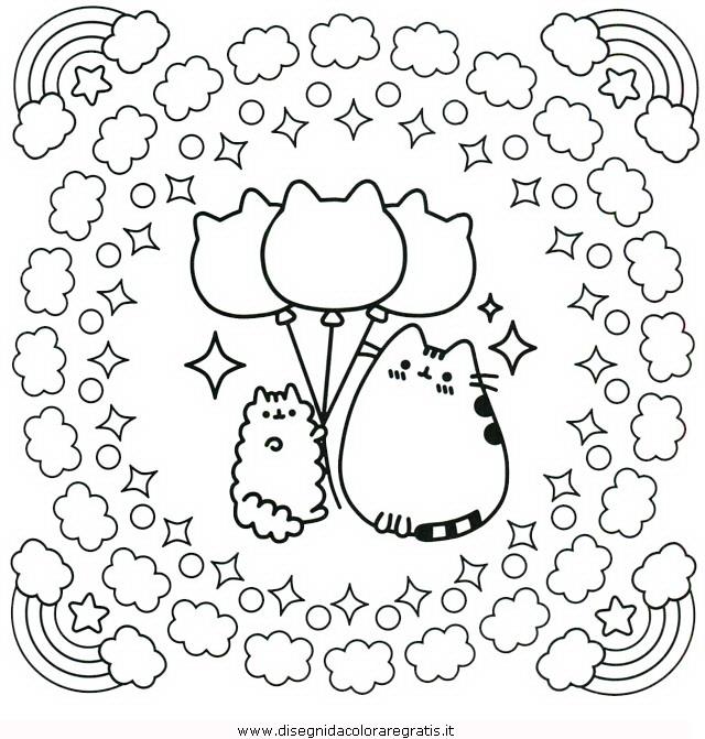 Disegno pusheen 13 personaggio cartone animato da colorare for Foto di disegni kawaii
