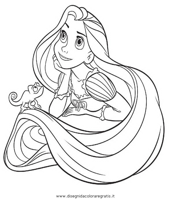 Disegno Rapunzelintrecciotorre11 Personaggio Cartone Animato Da