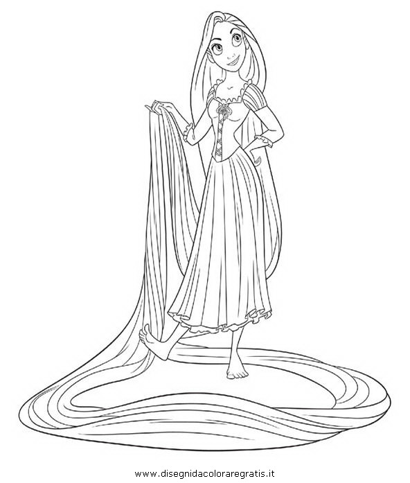 Disegno Rapunzel Intreccio Torre 12 Personaggio Cartone Animato Da