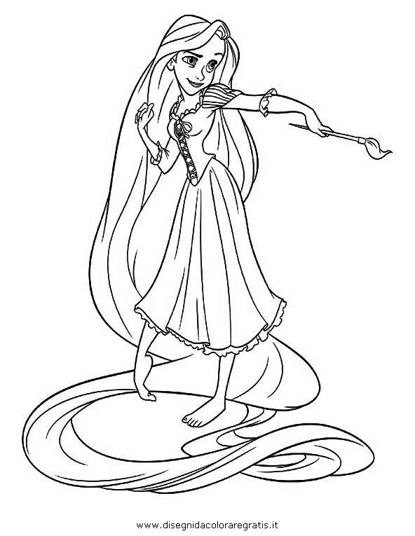 Disegno Rapunzelintrecciotorre15 Personaggio Cartone Animato Da
