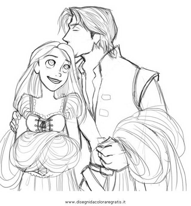 Disegno Rapunzelintrecciotorre25 Personaggio Cartone Animato Da